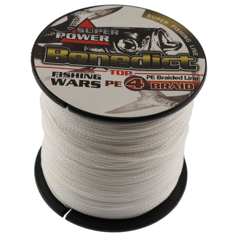 500M baltos spalvos PE žūklės linija Japonija daugiasluoksnė pynimo žūklės linija 4x pintinė viela super jūros žvejybos lynai virvių įrankiai
