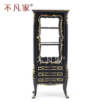 Dollhouse 1/12 scale miniature furniture Hand painted black Cupboard