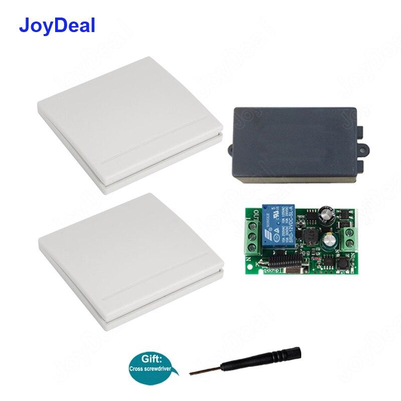 Lâmpada digital sem fio de controle remoto, interruptor de ligamento/desligamento universal ac 433 v, módulo receptor e controle remoto rf transmissor do painel de parede, 86