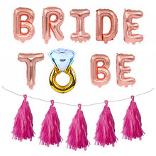 Wedding Decoration Letter Foil Balloon Mr Mrs Bridal Shower Team Bride To Be Balloon Decor Hen Party Bachelorette Party Supplies purple bachelorette hen party supplies hen letter glasses bride sunglasses eye decoration photo props