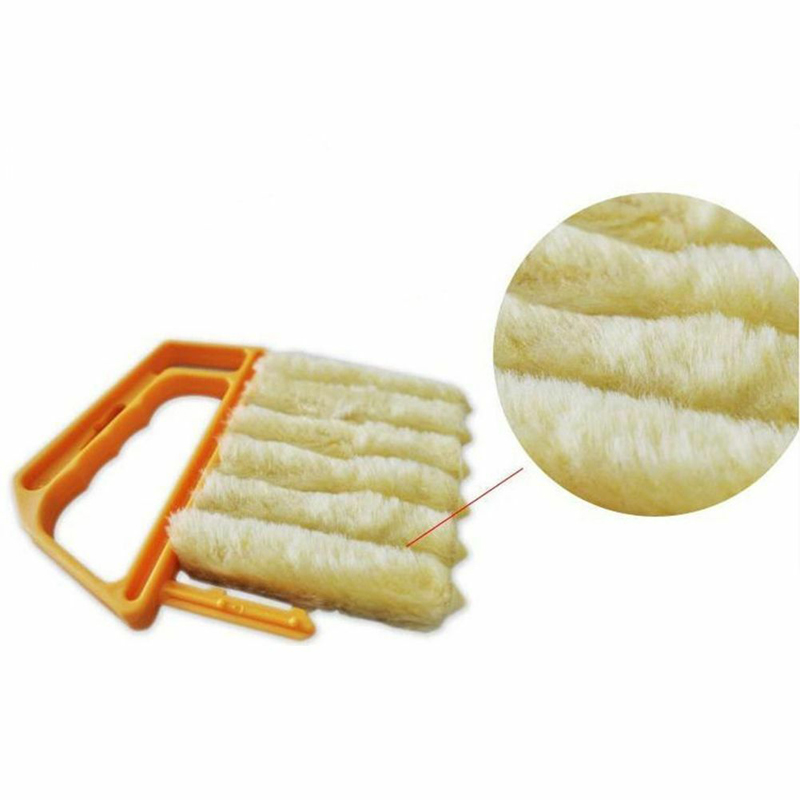 Image 5 - 1pc Microfiber Window Cleaning Brush Venetian Blind Brushes Air Conditioner Duster Cleaner  Household Cleaning Tools-in Cleaning Brushes from Home & Garden