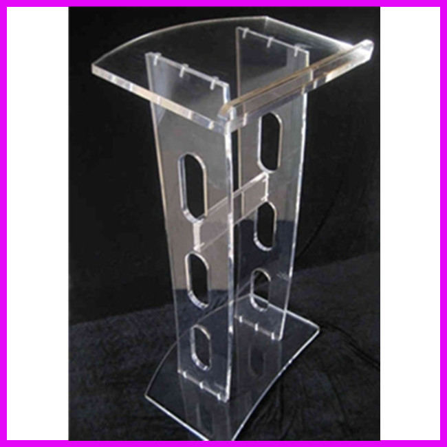 Free Shipping Good Quality Acrylic Table Top Lectern Plexiglass