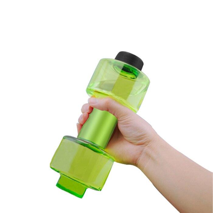 New 550ml Fashion Portable Sport Water Bottles Plastic Creative Dumbbell Shape Leakproof Transparent Kettle 88 YS-BUY