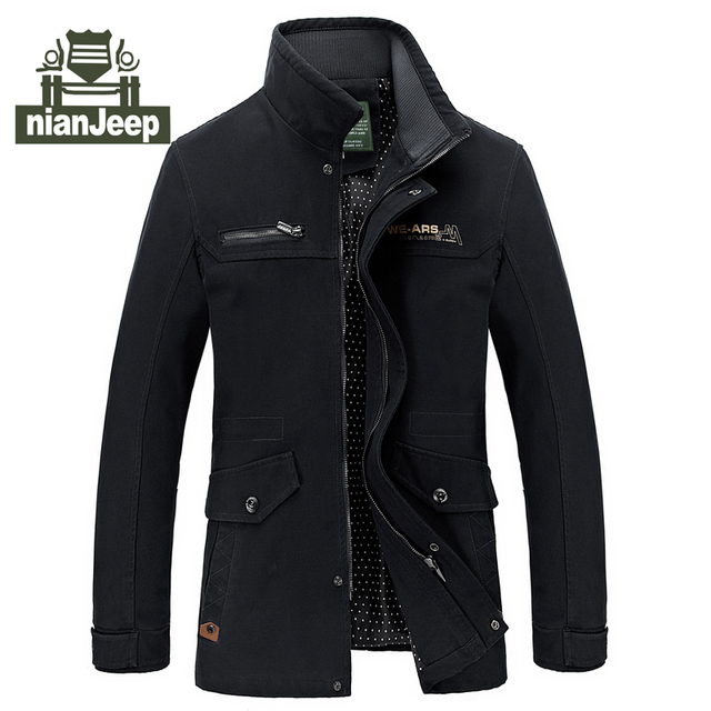men jacket spring and autumn young men stand collar casual jacket black khaki mens jackets and coats 6658 plus size m-5XL 50