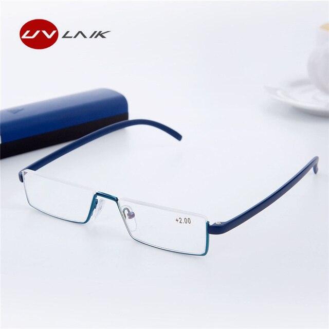 21f15e3295 UVLAIK TR90 gafas de lectura de los hombres y las mujeres ligero Marco de  resina de