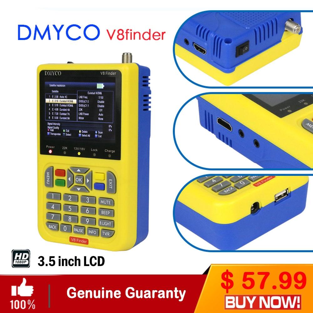 DMYCO V8 Finder Digital TV SatFinder DVB-S2 FTA Satellite Finder Meter With LCD Screen Display HD MPEG4 DVB-S/S2 Satelite Finder цена