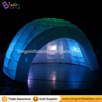 Free shipping 16.4 feet/5m air house inflatable dome tent,inflatable lawn igloo tent