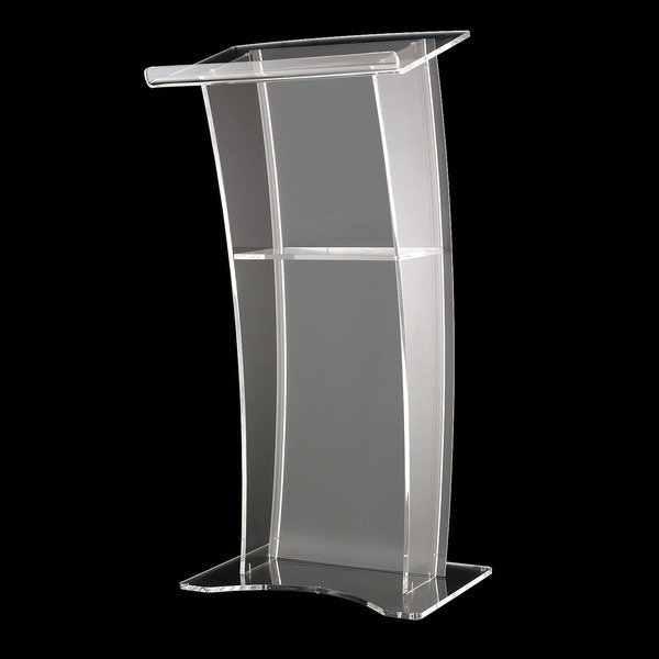 Kostenloser versand Klar Moderne Design/Acryl Podium, Kirche Rednerpult/Lucite kanzel/Roetrum