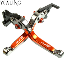 Motorbike Brakes Levers 790DUKE LOGO Aluminum Adjustable Foldable Extendable Clutch Brake Lever For KTM 790 DUKE 2018 2019 for ktm 790 duke 790duke 2018 motorcycle brake clutch levers adjustable folding extendable brake lever motor accessories parts