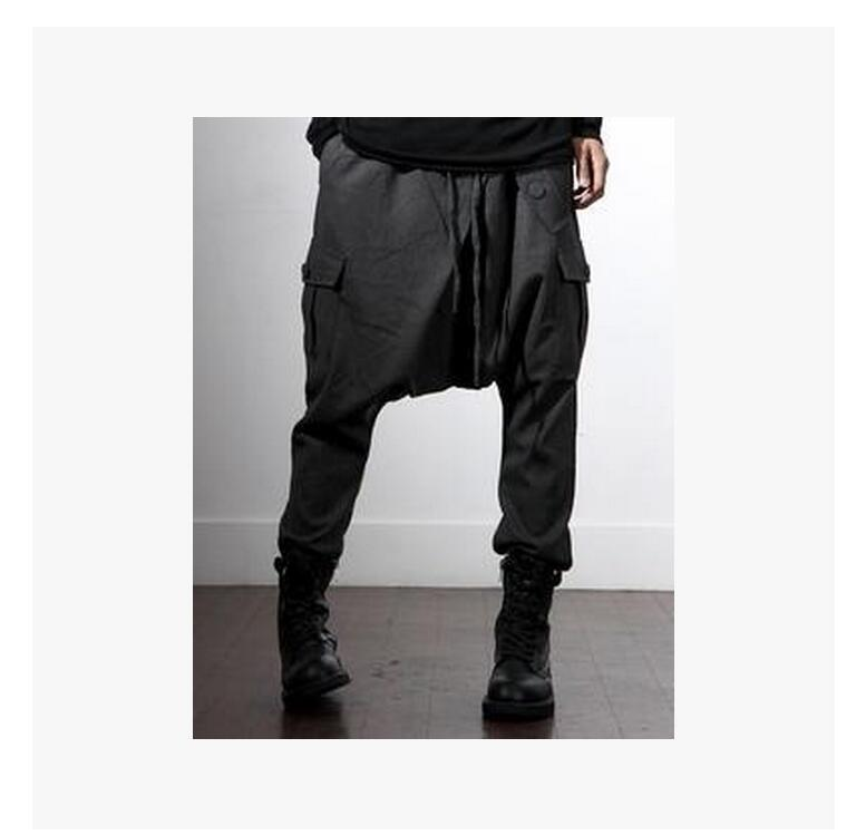 Big Crotch Pants Men Non-mainstream Casual Skinny Pants Trousers Hanging Crotch Pants Plus Size Pants Hot 2020 Autumn And Winter