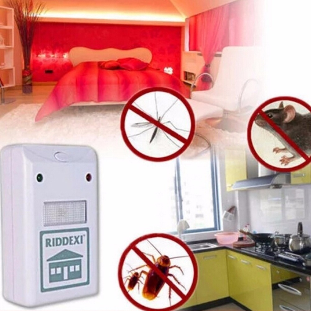 Enhanced Version Electronic Cat Ultrasonic Anti Mosquito Insect Repeller Rat Cockroach Mouse Pest Reject Repellent EU/US Plug