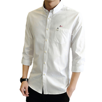 Dudalina Top Brand Casual Men Shirt Male Good Quality Shirts Men S Long Three Quarter Sleeve