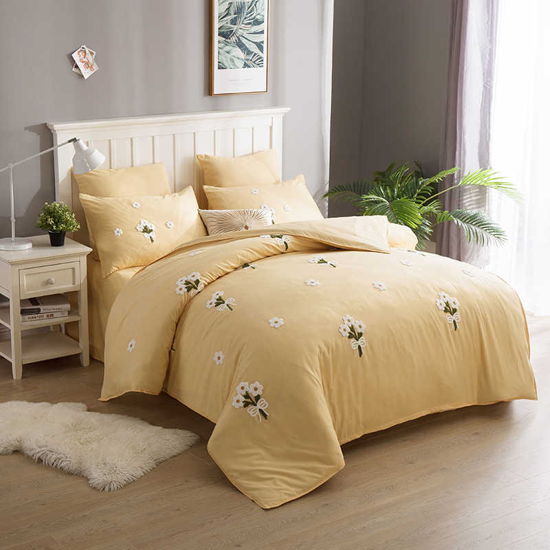 Alanna Modern High Quality Bedding Sets 6Pcs Bed Sheet Duvet Cover Set Pillowcase Without Comforter