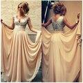 На Заказ Шифон С Блестками V-образным Вырезом Пром Платье Вечернее Платье Свадебные Платья Партии