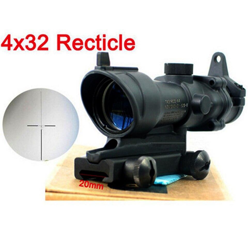 ФОТО  4x32 Tactical scopes Riflescope Option Sight for 20mm Rail Mount Shockproof Rainproof Telescopic Sight for Hunting