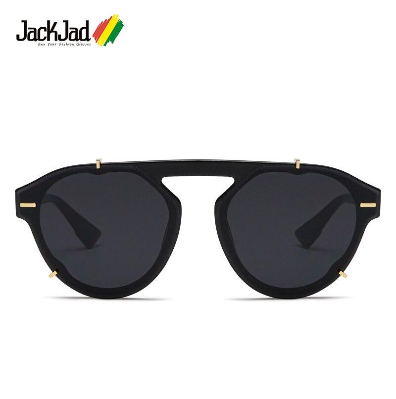 Jackjad 2019 moda moderna legal rebites decoração estilo óculos de sol das mulheres dos homens uv400 design da marca óculos de sol oculos de sol 33141
