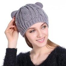 Las mujeres de otoño e Invierno sombrero lindo Kitty niños sombrero para  niñas 5ad3cf40564