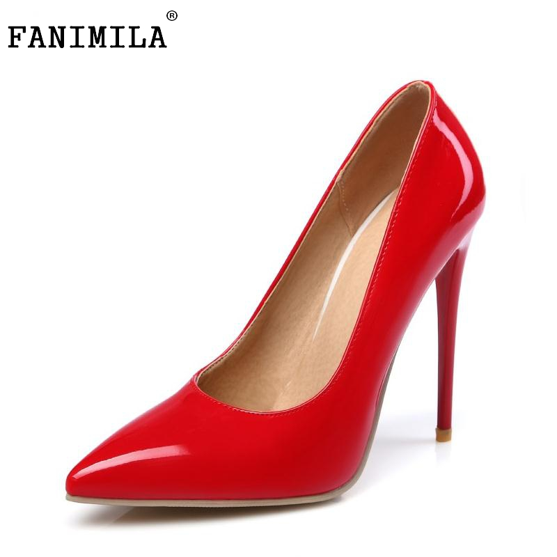 Spring Autumn Big Size Women Pumps Sexy Pointed Toe Thin High Heels Shoes Woman Brand New