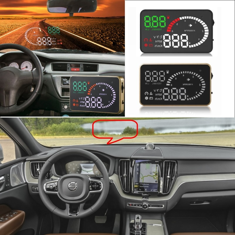 купить Liislee Car HUD Head Up Display For Volvo XC60 XC70 XC90 S40 S60 S80 V40 V50 V60 V70- Safe Screen Projector / OBD II Connector по цене 3641.27 рублей