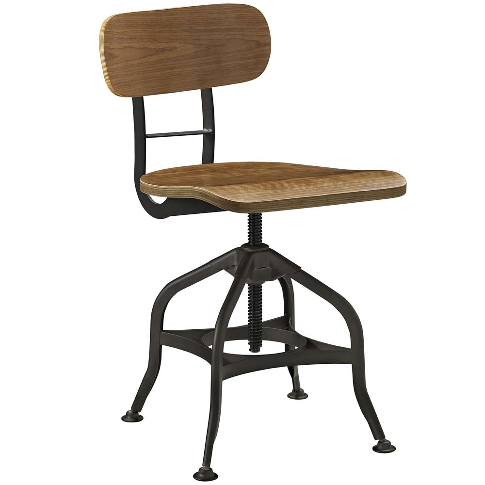 Brown Mark Wood Bar Stool ...