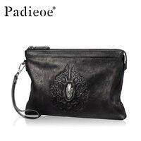 Padieoe Элитный бренд из натуральной кожи Для мужчин бумажник мужской клатч деньги кошелек для Для мужчин бизнес кошелек телефон сумка держате