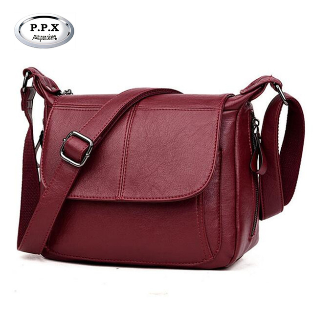 2018 Hot Sale Women Shoulder Bags Middle-aged Mother PU Leather Messenger  Bag Famous Brand 72c013fc6d17f
