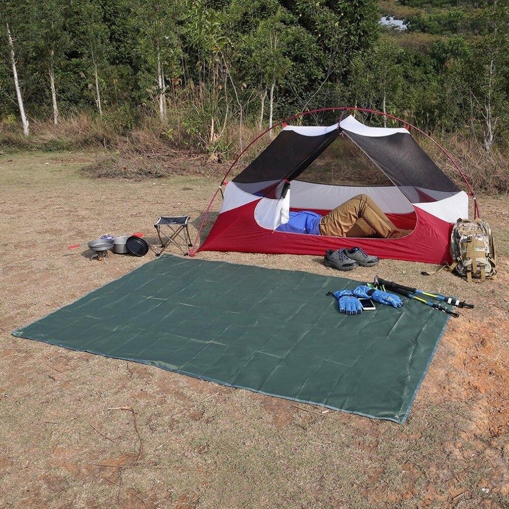 Multifunction Waterproof Camping Floor Tarp For Picnics Tent Footprint And Sunshade Camping Beach Picnic Mat Free Shipping