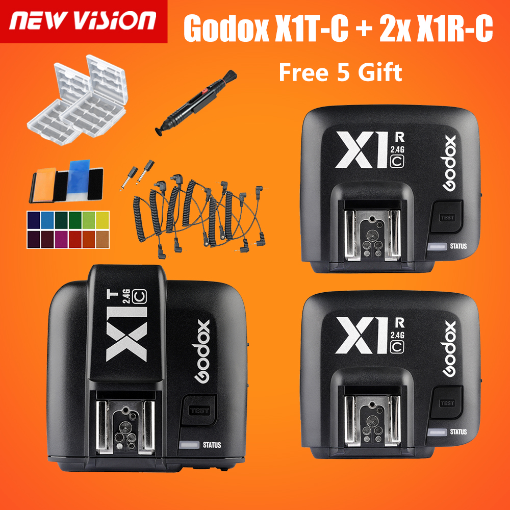 bilder für Godox X1C TTL 2,4G Wireless Transmitter + 2 x Empfänger Kit für Canon 6D 60D 70D 600D 650D 700D 750D 7D 7DII 5DII 5 DIII