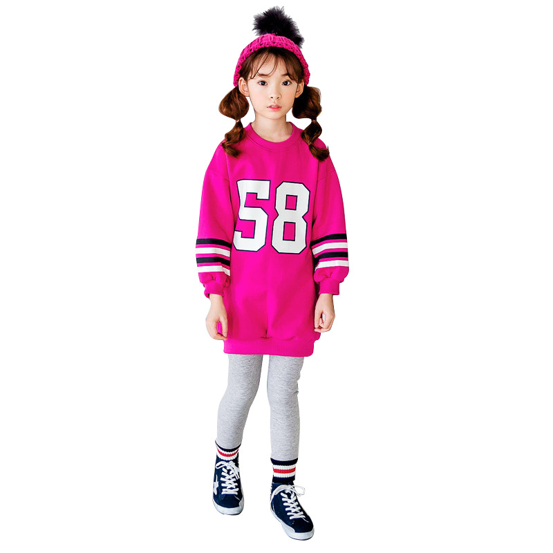 3-13Yrs Autumn Children Clothing Sets Boys Girls Long Sleeve Sweaters+Pants Fashion Kids Clothes Sports Suit for Girls CC942 fashion style for girls of chiffon long sleeves tops with stars printed jeans pants in autumn sets children s clothes st316