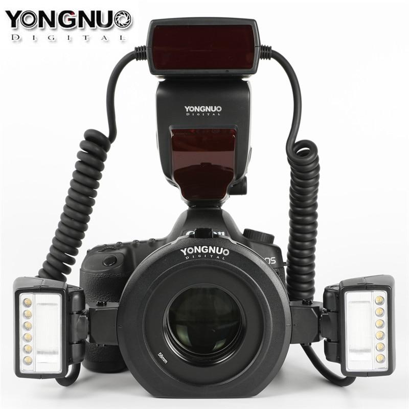 Yongnuo YN24EX E TTL Macro Flash Speedlite for Canon EOS 1Dx 5D3 6D 7D 70D 80D Cameras with 2pcs Flash Head + 4pcs Adapter RingsYongnuo YN24EX E TTL Macro Flash Speedlite for Canon EOS 1Dx 5D3 6D 7D 70D 80D Cameras with 2pcs Flash Head + 4pcs Adapter Rings