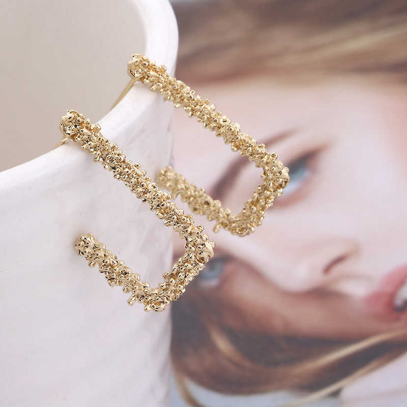 2019 Trendy Earrings For Women Geometric Metal Statement Hanging Charm Retro Rock Vintage Earrings Fashion Jewelry wholesale