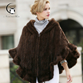 2016 Mink Coats Winter Women Real Fur Coat Fashion Women's Long Mink Fur Cape Coat Hooded Cloak Mantle Outwear Femme Coat Kacket