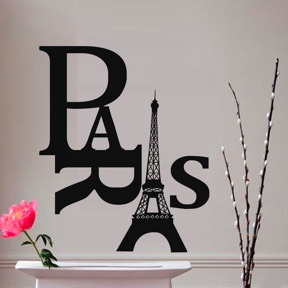 Dctop large size living room diy paris eiffel tower wall stickers dctop large size living room diy paris eiffel tower wall stickers pvc removable adhesive art decal home decor accessories in wall stickers from home amipublicfo Images