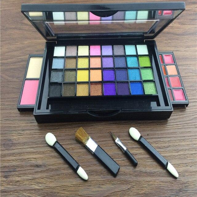 New Professional 32 Color Makeup Eyeshadow Palette Long Lasting Shimmer Eyeshadow Lip Gloss Blush Makeup Set Kit with Brush
