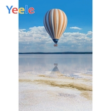 Yeele Seaside View Hot Air Balloon Vacation Wedding Portrait Photography Backdrops Sky Photographic Backgrounds For Photo Studio
