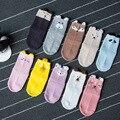 Myudi-5 Пар/лот Весенние Дети Носки Хлопок Детские коробка Животных Девушка Носок Просторные Мальчики Короткие Фокс Kitty Носки 0-5Y