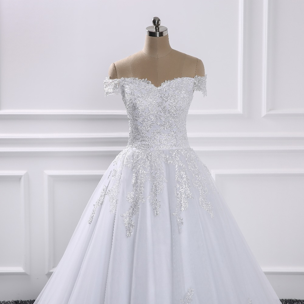 2018 Luxury Lace Ball Gown Sleeve Wedding Dresses Sweetheart Sheer ...