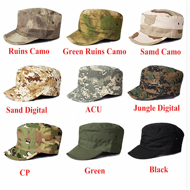 Army fans outdoor Military Tactical combat soldier hat flat cap hat cap  military camouflage Hunting cap d76b6ce0e99c