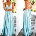 Лето Sexy Dress Женщины Красный Пляж Длинные платья Повязки Многостороннего Конвертируемые Платья Бесконечность Wrap Robe Maxi Dress Wrap Vestidos 2016