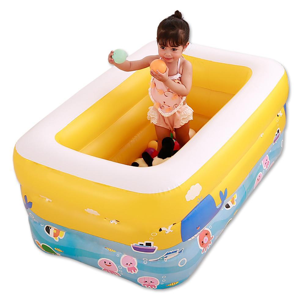 Nouvelle piscine gonflable famille extérieure enfants piscine eau jouet piscine plancher de bain piscine Portable bébé bassin baignoire jeu d'eau