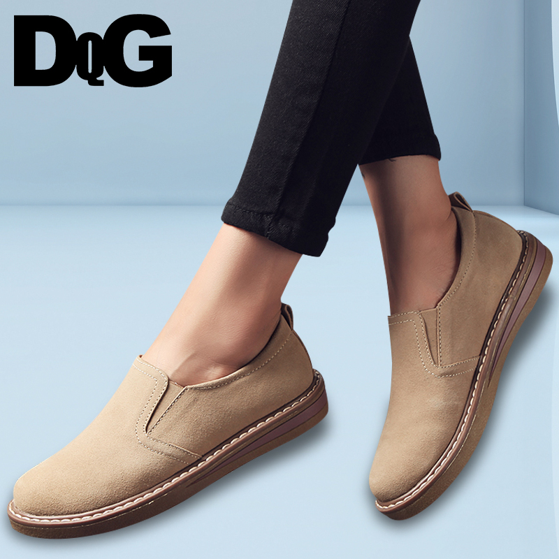 DQG 2018 Spring Casual Women Shoes Loafers Flats Slip On Zapatos Mujer Solid Ladies Shoes Oxfords Chaussures Femme все цены