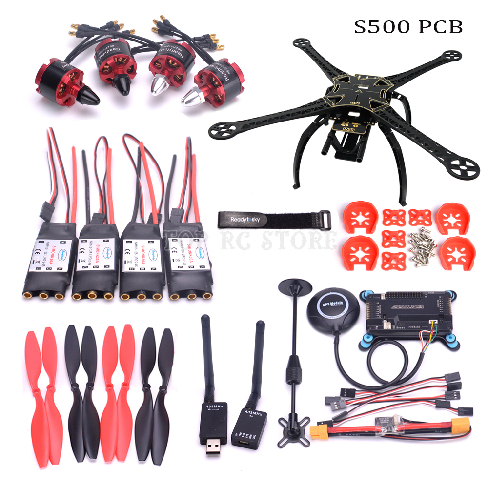 F450 S500 500mm PCB X500 Quadcopter Frame Kit APM2 8 controller board M8N GPS 2212 920kv