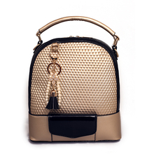 2016 Multifunctional Women Leather Backpack Tassel Women Double Shoulder Bags Backpacks For Teenage Girls Mochila Bolsa Feminina