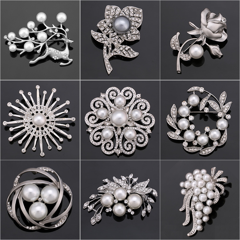 Fabrik Direkt Verkauf Kristall Diamante & Imitation Perle Mode Blume Blatt Und Deer Brosche Pins Für Frauen In Verschiedenen Designs Schmuck & Zubehör Schmucksets & Mehr