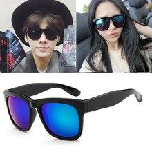New retro caixa grande maré pessoas óculos de sol óculos de sol reflexivos  coloridos óculos de sol 554ab81cdf
