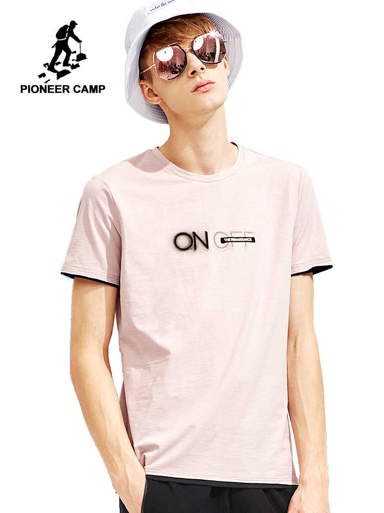 3b5024e77388 Pioneer camp new summer short sleeve t shirt for mens brand clothing fashion  printed tshirt men