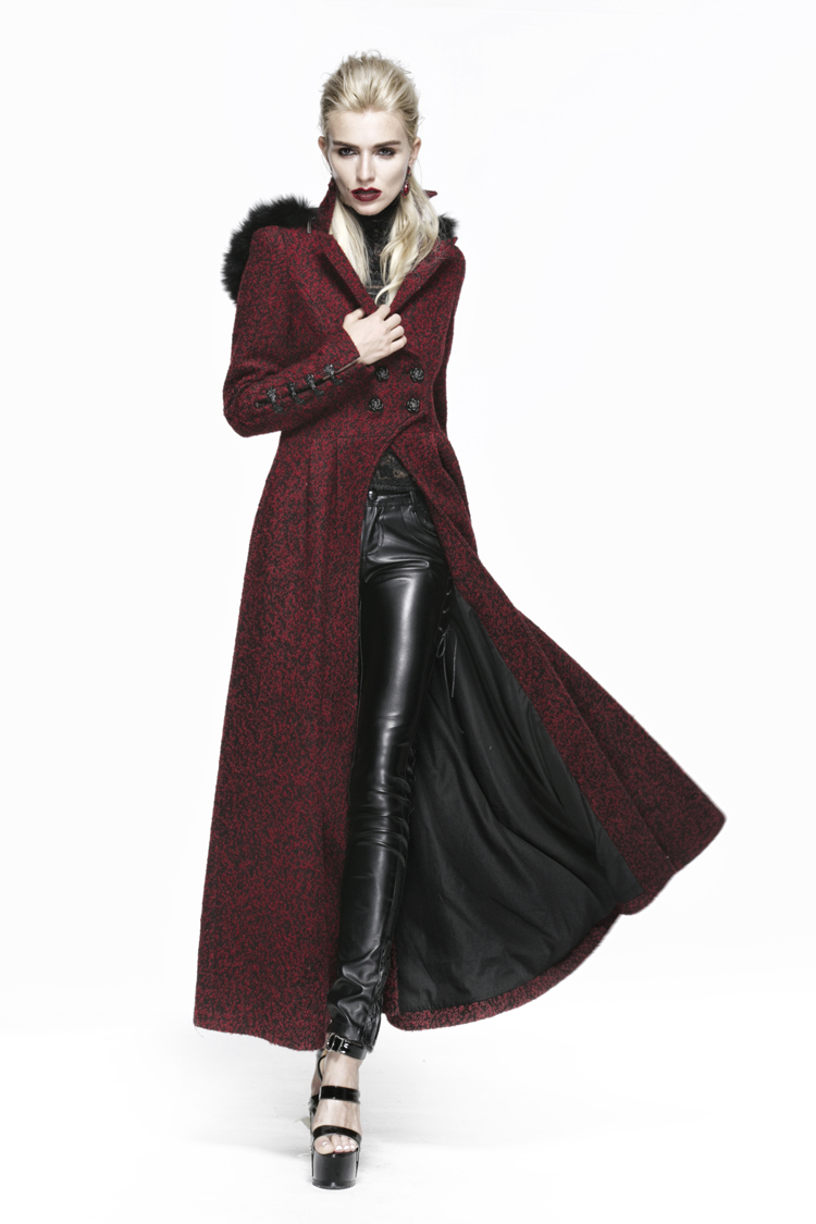 OULIU Mens Double Breasted Trench Coat Winter Long Jacket Overcoat Khaki S