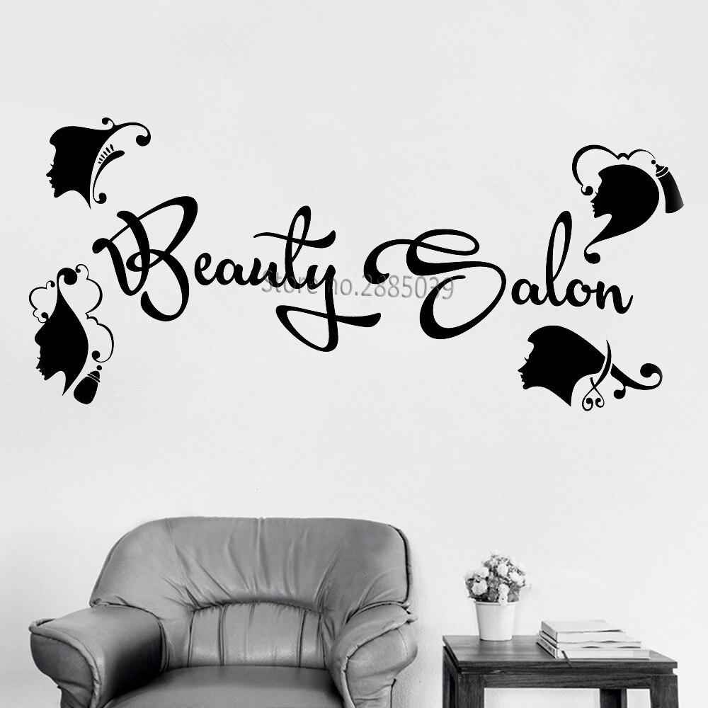 Fashion Design Vinyl Decal Hairdressing Beauty Salon Logo