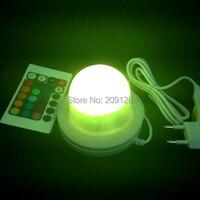 Mejor calidad impermeable ip68 rgb multi color de control remoto de inducción led de carga de tubos de luz