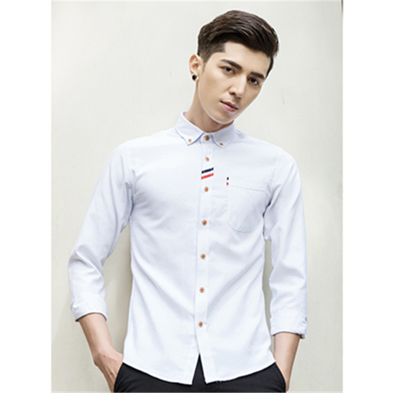 Korean mens dress shirt 2017 oversize clothing fashion for Men s dress shirt accessories
